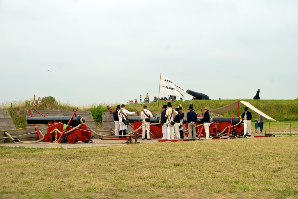Photo used in the 2016 JHU Credit Union Calendar of a reenactment at Fort McHenry during the Sailabration events in Baltimore