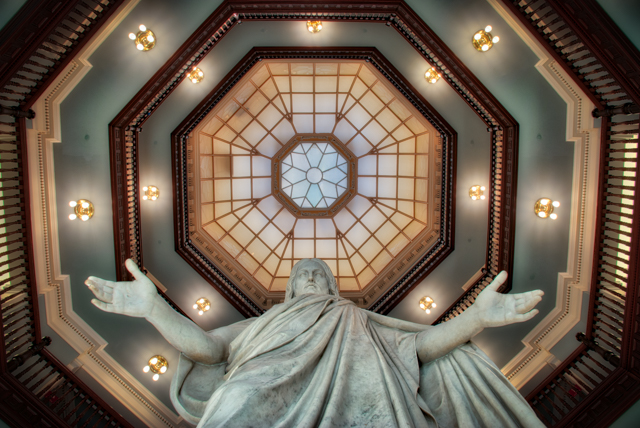 The Statue of Jesus in the Billings Building of Johns Hopkins Hospital