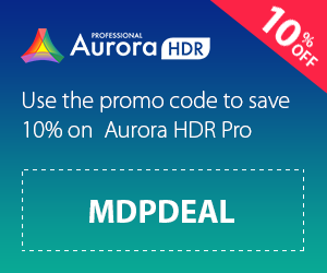Aurora HDR 10%off Coupon Code MDPDEAL