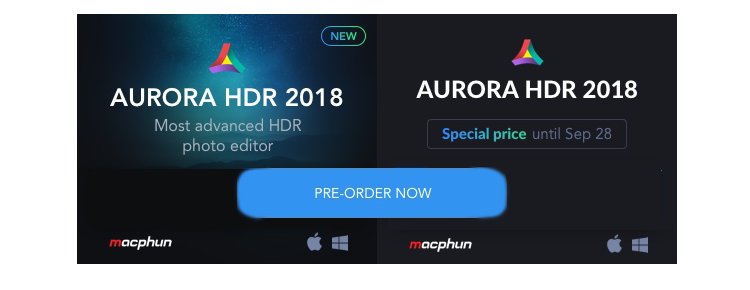 Aurora HDR 2018 for Windows and Mac